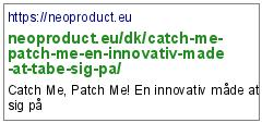 https://neoproduct.eu/dk/catch-me-patch-me-en-innovativ-made-at-tabe-sig-pa/